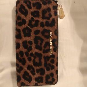 Michael Kors cheetah calf hair wallet